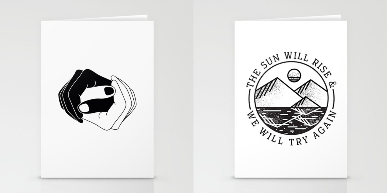 Sending Snail Mail with Society6 Stationery Cards