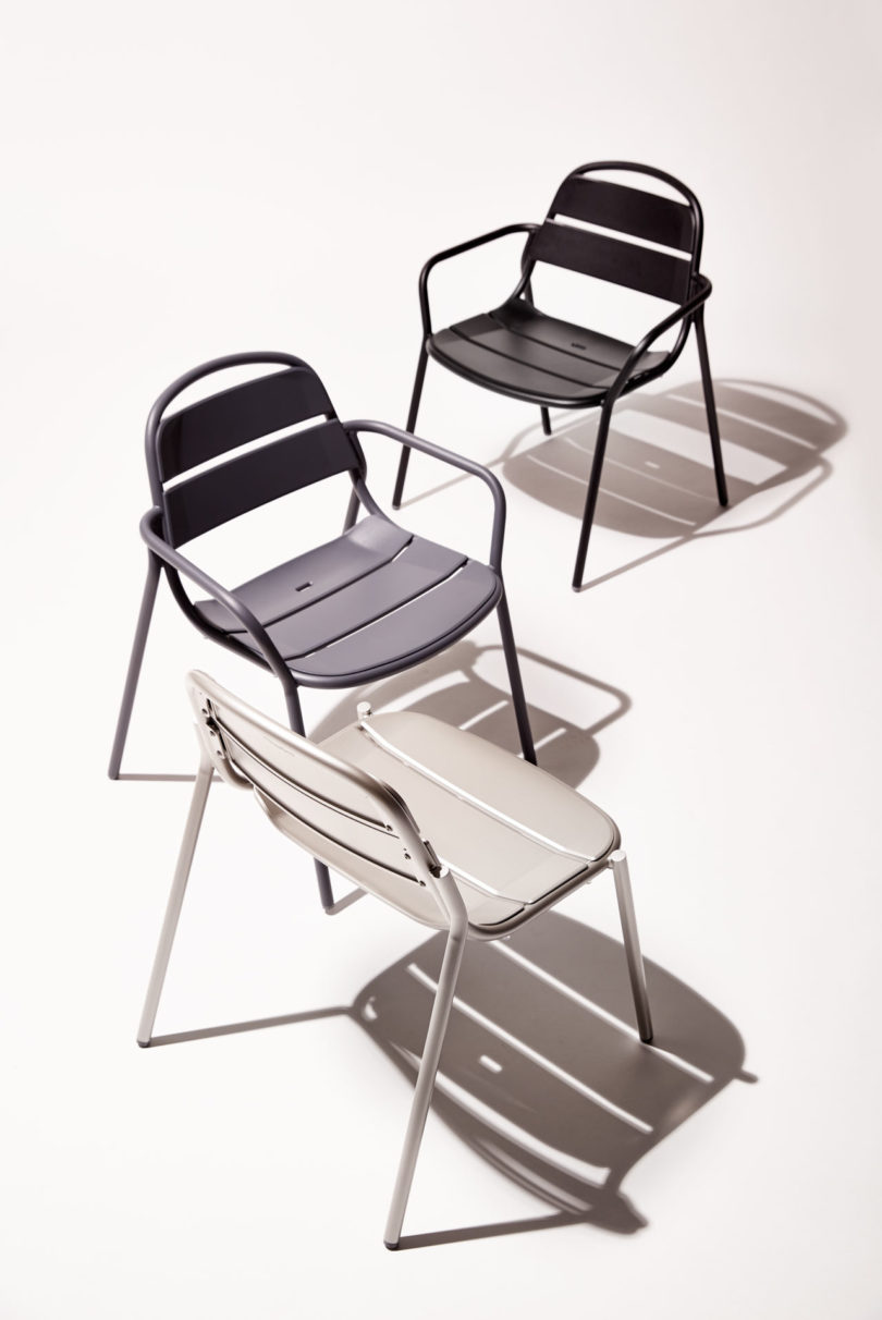 landscape forms outdoor 21 chair is fun functional and stackable rh design milk com