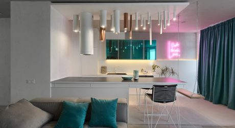 A Kiev Apartment That Goes From Minimal To Neon Lights
