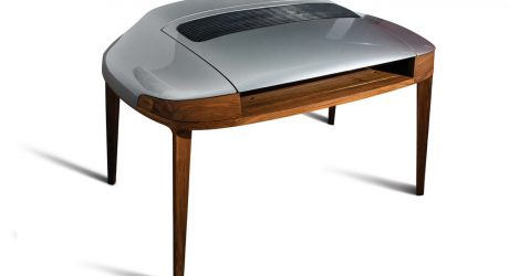 Porsche 911 Desk Shifts Into the Write Lane