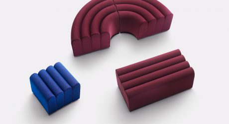 The Arch-Inspired Arkad Pouf Collection by Note Design Studio for Zilio A&C