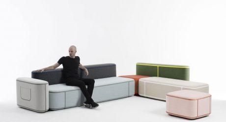 Benjamin Hubert's Tape Modular Seating Adds an Element of Fashion