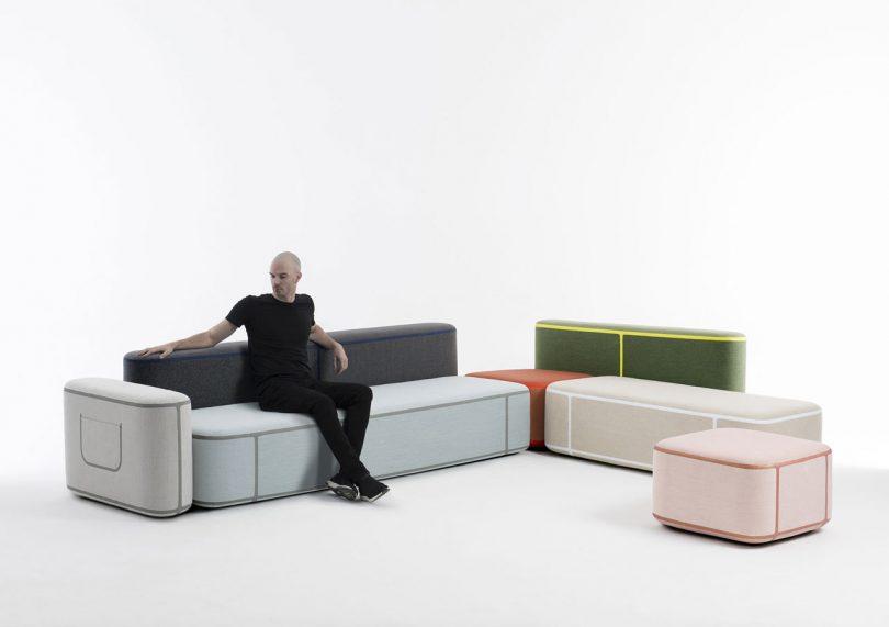Benjamin Hubert?s Tape Modular Seating Adds an Element of Fashion