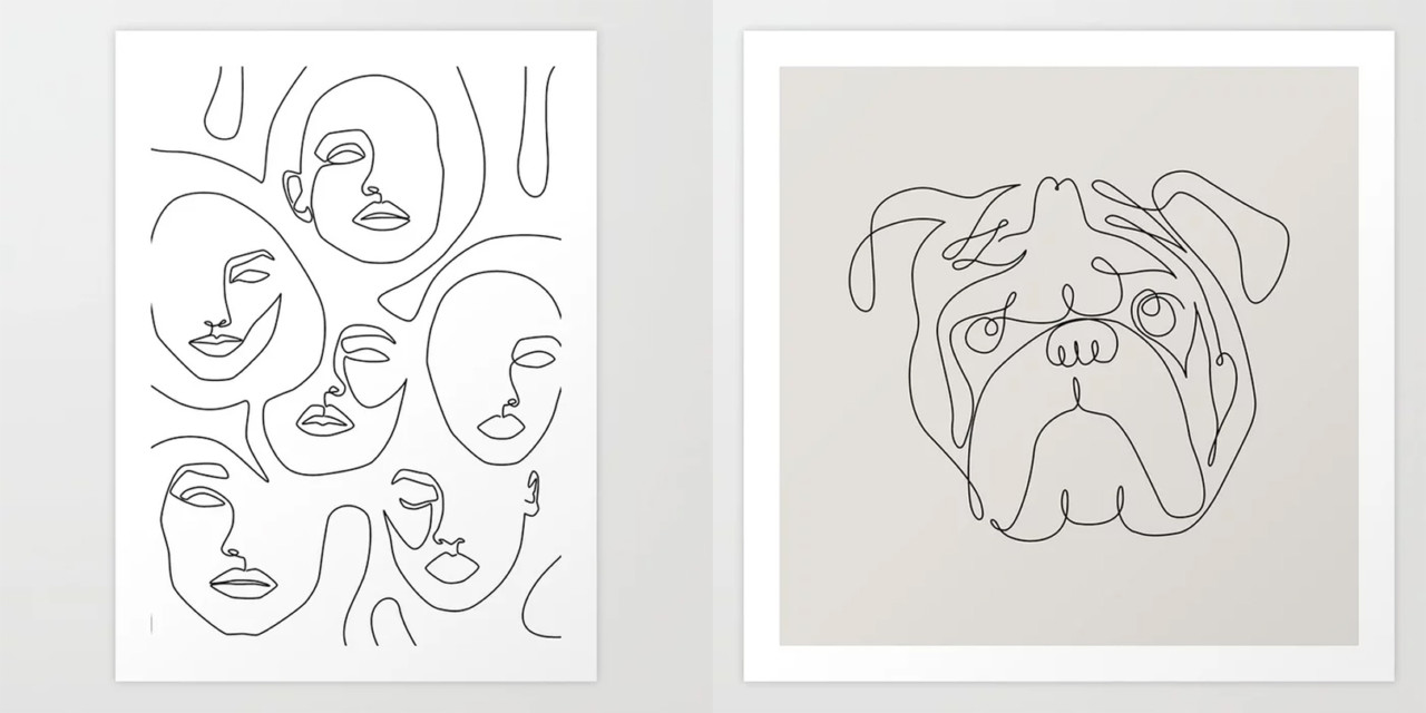 Fresh From The Dairy: Line Drawings