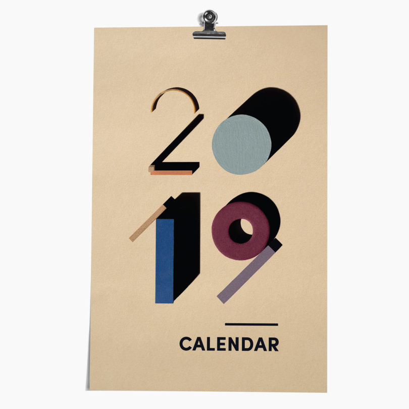 20 Modern Calendars For 2019 Home Ideas