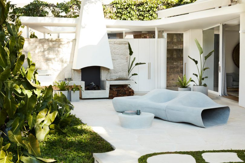 Sculptural Outdoor Furniture and Accessories by Swisspearl