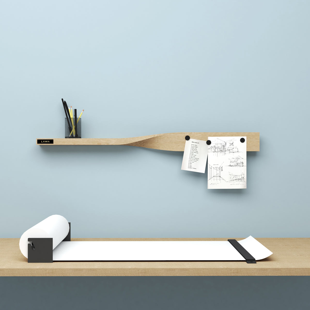 "backReturn to ""LAWA DESIGN Designs the Twist Shelf That Doubles as a Magnetic Board"""