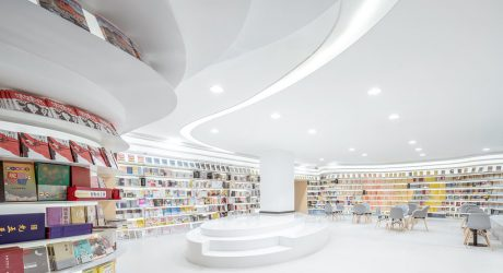 An All-White Bookstore in Xi'an, China That Lets the Books Add the Color