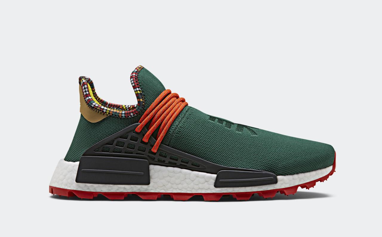 65c2577413d3e East African Motifs Inspire Pharrell Williams adidas SOLARHU Capsule  Collection