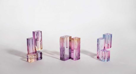 The Crystal Series_ Vase Collection Was Inspired by Evening Light Hitting a Lake