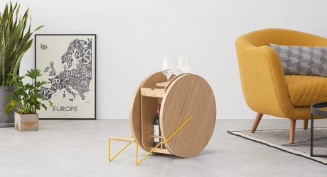 The ROWND Drinks Cabinet Takes Bar Carts to a Whole New Level