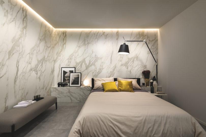 佛罗里木设计创新:瓷质砖耐用大理石外观