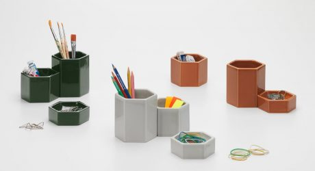 Jasper Morrison + Vitra Will Help You Keep Your Desk Clean with Hexagonal Containers