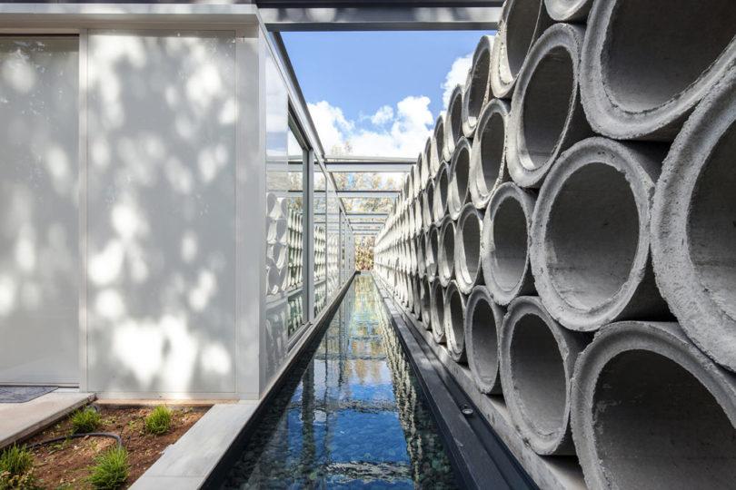 Brilliant Varda Studio Stacks Concrete Tube Pipes For The Ab House In Interior Design Ideas Apansoteloinfo
