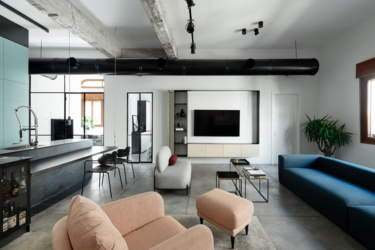 Ax a modern loft apartment in tel aviv by studio etn design milk