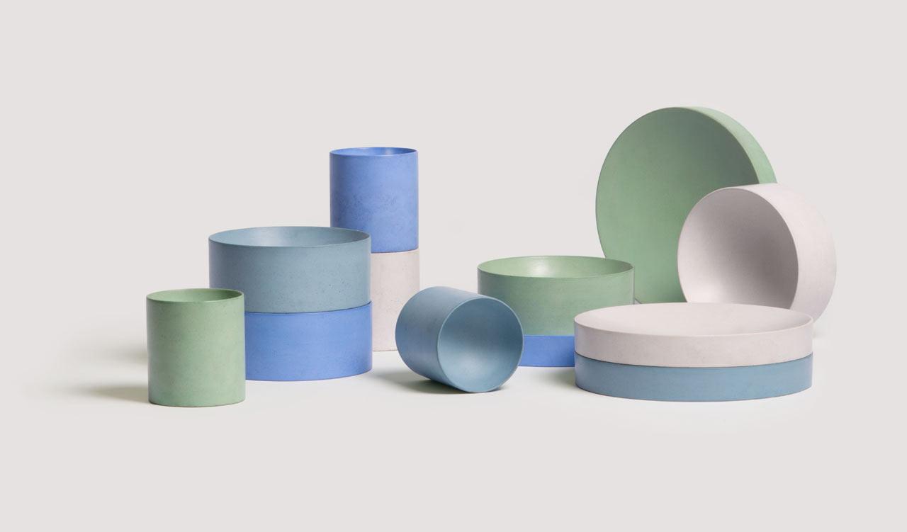 Booles Minimalist Concrete Tableware by Von Morgen