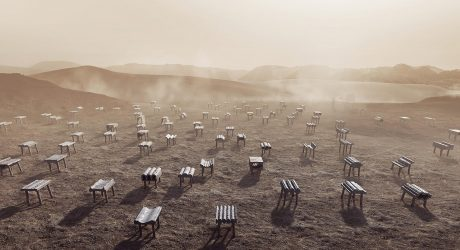 Desert Cast Kuwait City Pavilion at Dubai Design Week '18