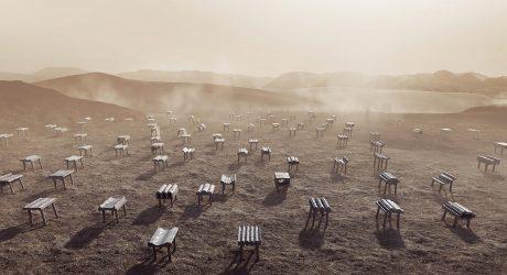 Desert Cast Kuwait City Pavilion at Dubai Design Week '18