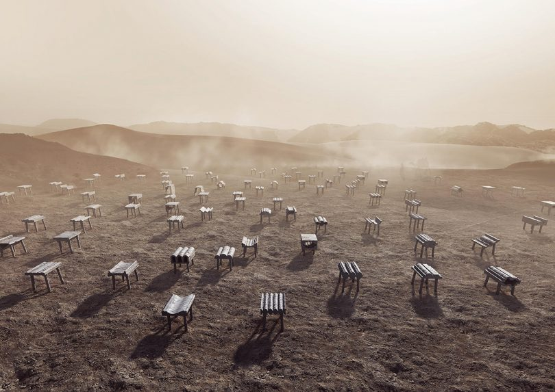 Desert Cast Kuwait City Pavilion at Dubai Design Week ?18