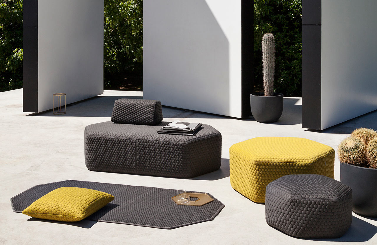 Fun Hexagonal Stools to Create Your Own Outdoor Seating Arrangement