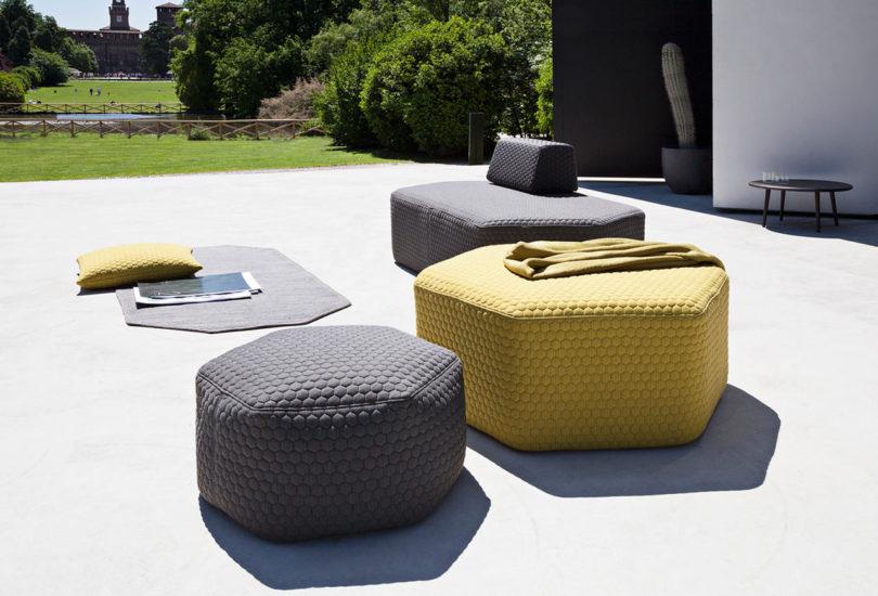 有趣的六边形凳子创建自己的室外座位安排