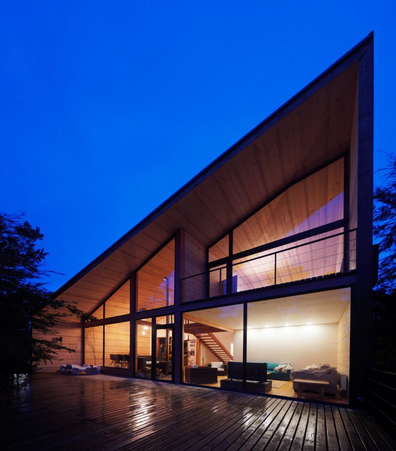 A House in Chile That's Split in Two to Accommodate Adults and Children