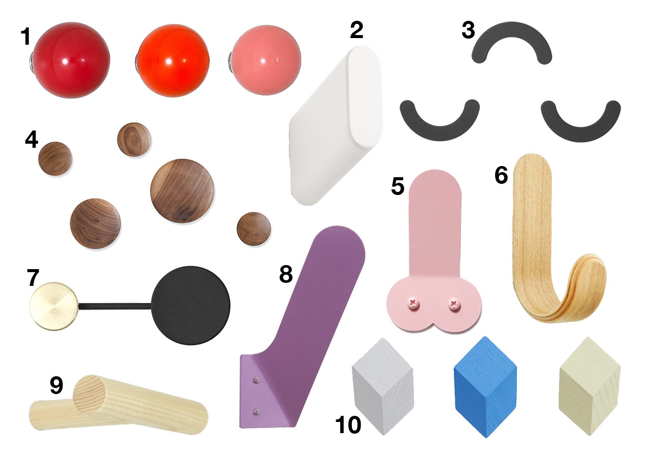 10 modern wall hooks that will keep your winter coats tidy all winter