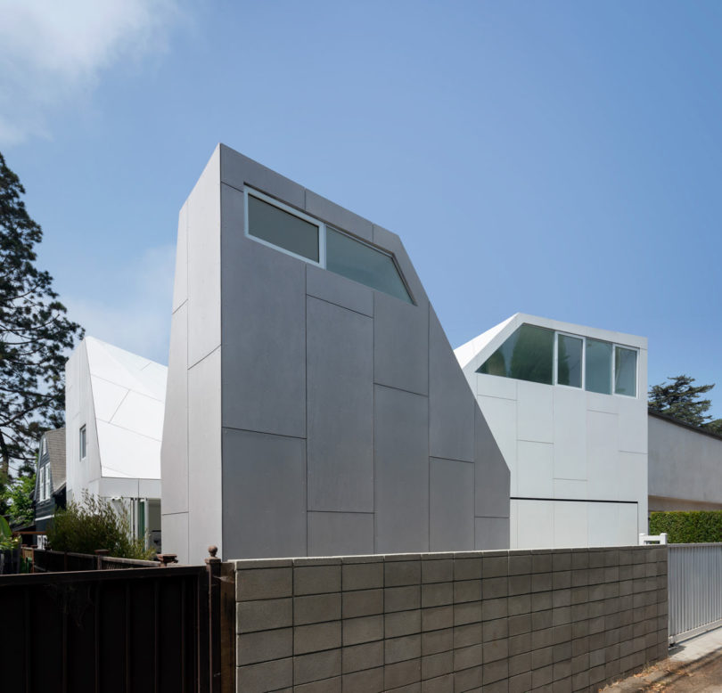 FreelandBuck Designs Second House with a Series of Volumes with Steep Rooflines