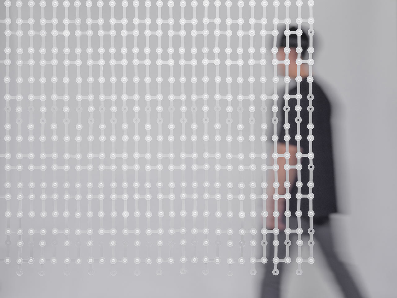 STUDIO PESI Designed a Modern, Modular Version of a Beaded Curtain