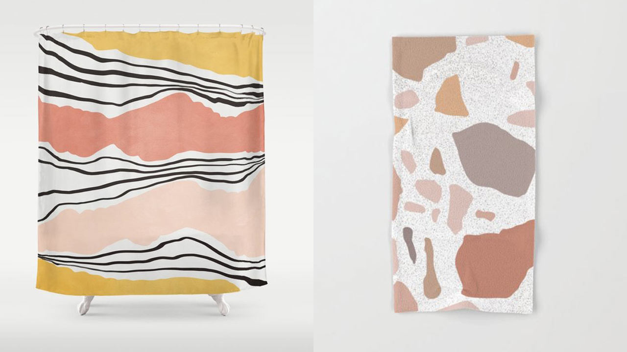 Deck Out Your Bathroom with Artist-Designed Bath Products from Society6
