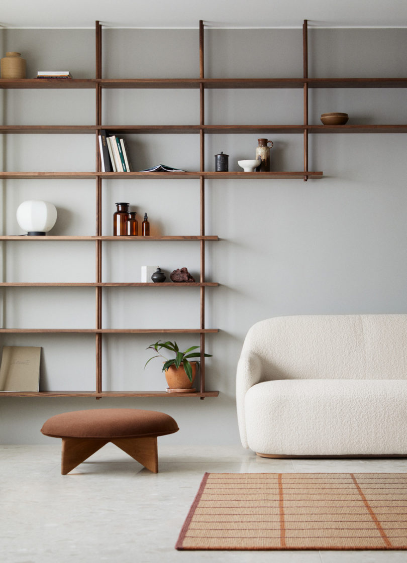 Modular shelving from the Fogia Collection