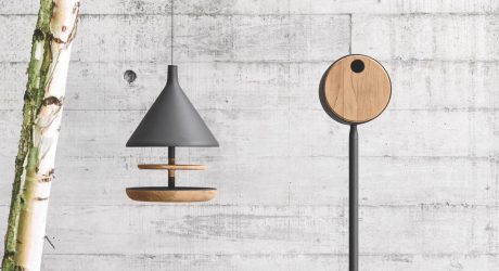 Mark Gabbertas Designs a Birdhouse and Feeder for Gloster