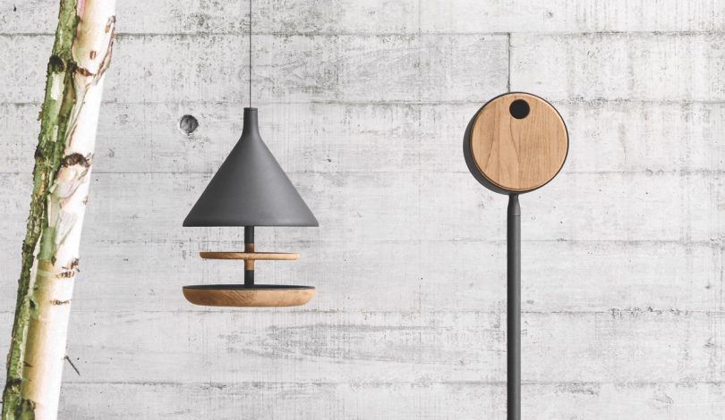Mark Gabbertas Designs a Birdhouse and Feeder for Gloster
