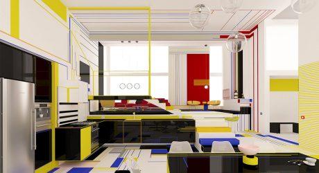 Brani & Desi Design a Piet Mondrian Inspired Interior