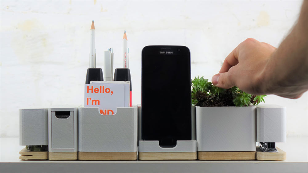 Keep Your Desk Beautifully Organized with the Re:ease Modular Organizer