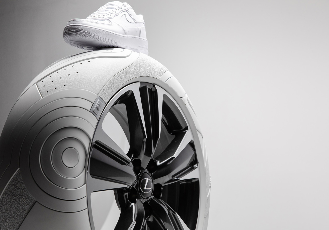 "Lexus ""Sole of the UX"" Tires Treads the Same Ground as Nike Air Force 1"