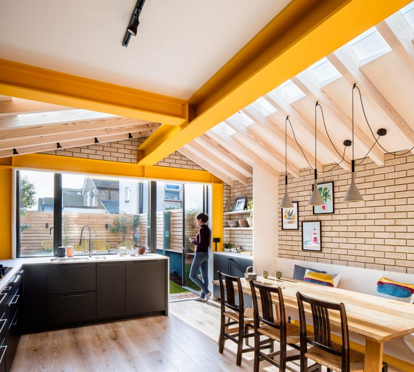 London?s Yellow Steel House Is a Colorful Extension to a Terraced House