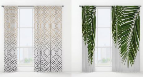 Fresh From The Dairy: Window Curtains with a Graphic Punch