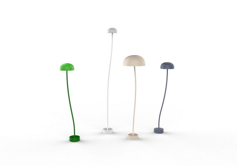 Front Reimagines the Classic Green Banker's Lamp as Curve for Zero