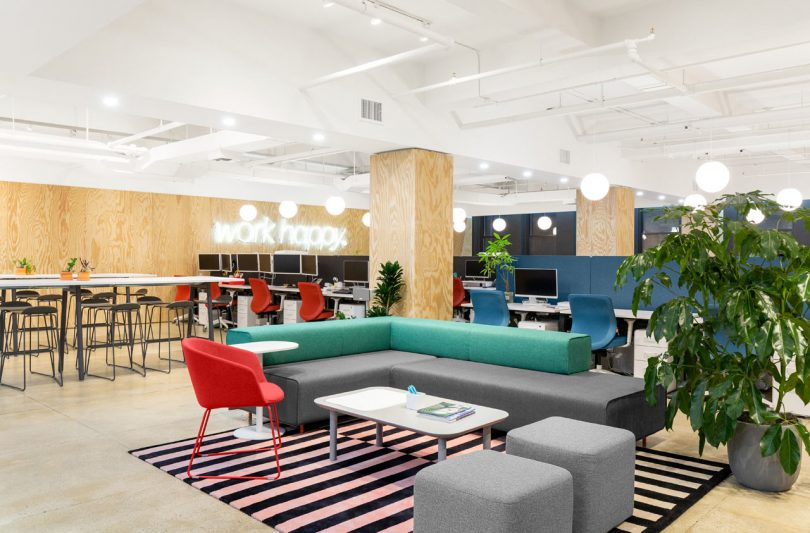 """Poppin Applies Their Slogan """"Work Happy"""" to their NYC Headquarters"""