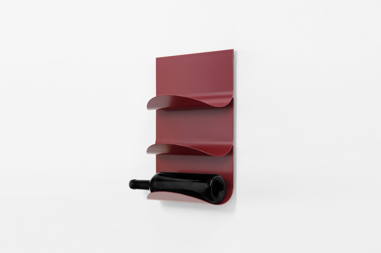 A Modular, Tongue-Inspired Wine Bottle Holder by Mario Alessiani