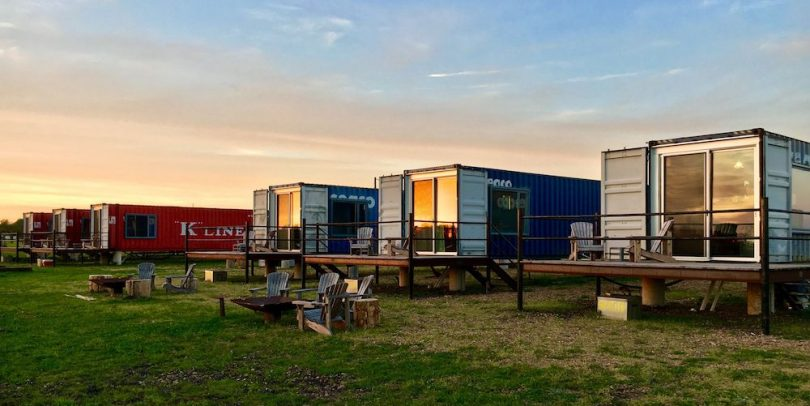 At Flophouze Hotel, the Trend of Upcycling Shipping Containers Lives On