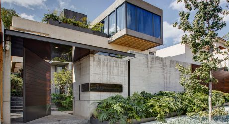 A Concrete House in Mexico City Surrounded by Gardens