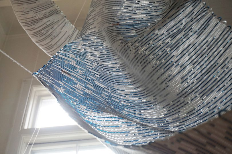 COMPUTER 1.0 Marries Hand Woven Threads and Computer Code