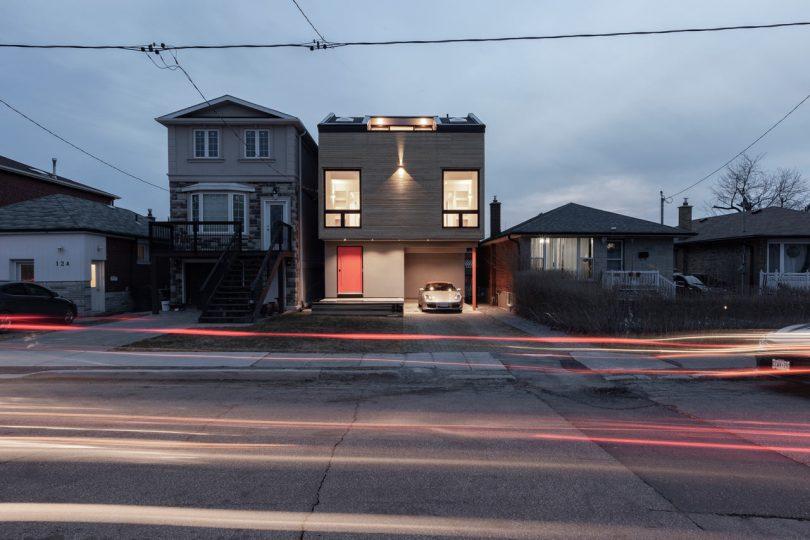 A Toronto House Appears to Gaze Through Two Symmetrical Windows
