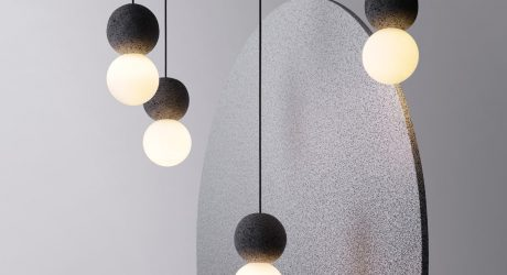 Studio davidpompa's Origo Lighting Explores Geometry and Volcanic Rock