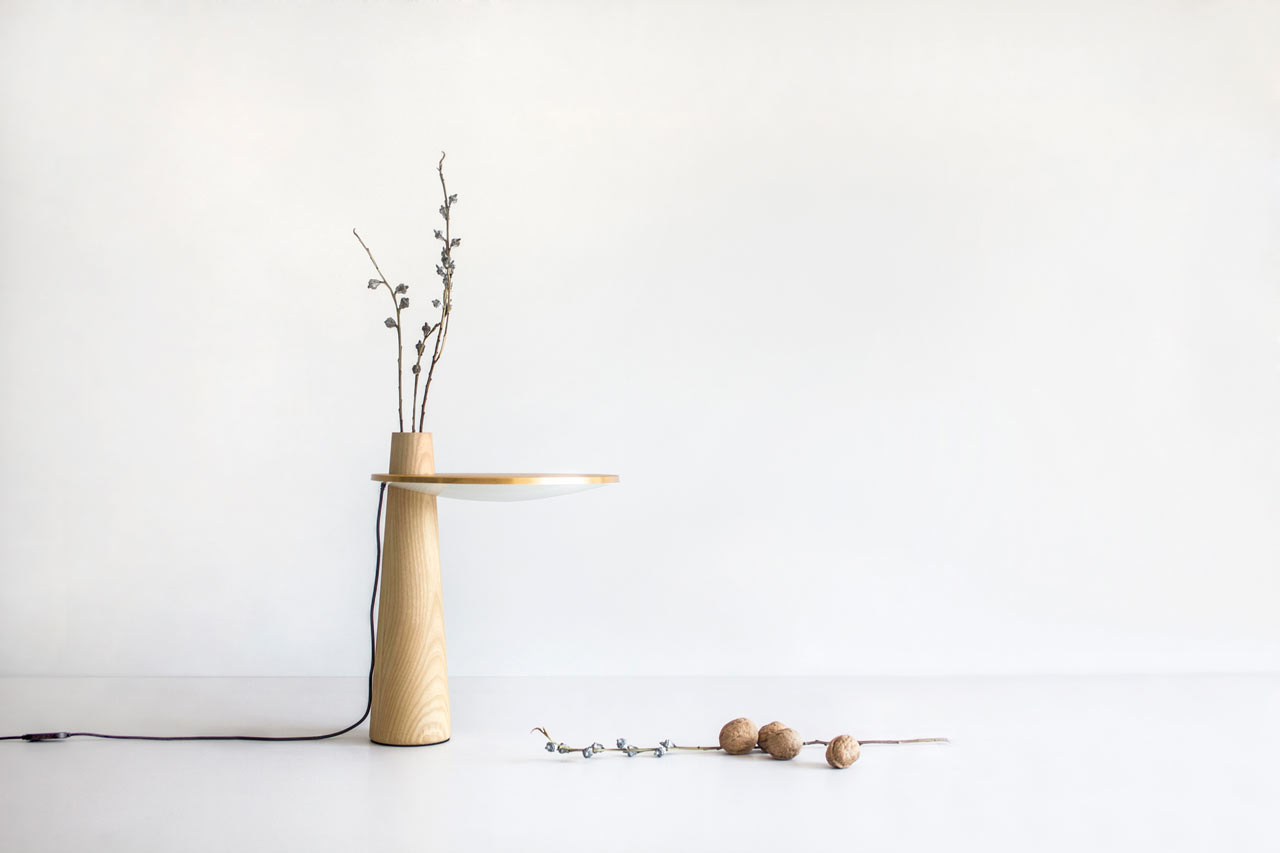 The Subtle Happiness Table Lamp Doubles as a Vase