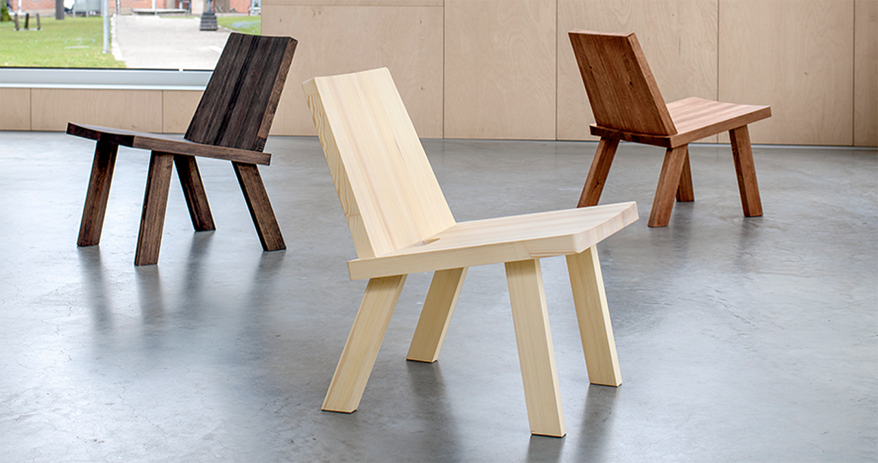 Pinzo Chair Is Blocky, Sturdy, and No Nonsense