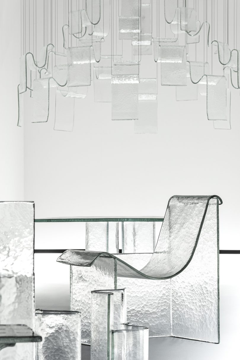 Nendo and WonderGlass? Melt Collection on Display in the Shape of Gravity