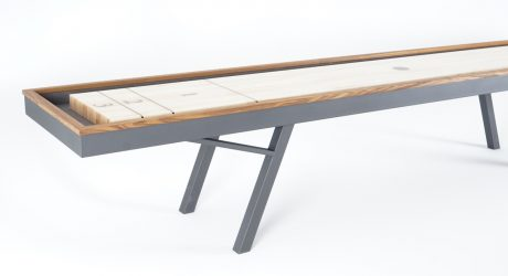 It's Playtime with Sean Woolsey's Outdoor Shuffleboard Table
